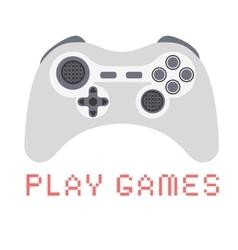 Gamepad Video game Flat design vector image