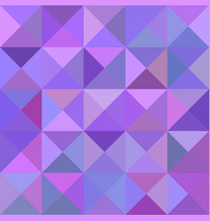 Geometric triangle tiled mosaic pattern vector