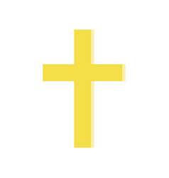 golden cross in flat style symbol of roman vector image
