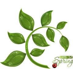 green branch tree vector image