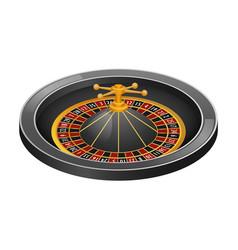 Grey roulette casino mockup realistic style vector