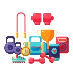 Gym Inventory Items Collection vector