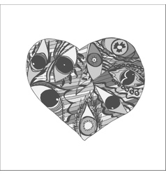 Hand drawn Doodle Heart vector