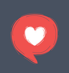 heart in speech bubble vector image