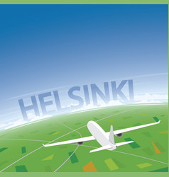 Helsinki flight destination vector