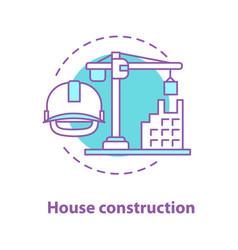 House construction concept icon vector