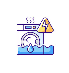 Household appliances malfunction rgb color icon vector