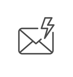 Important mail line outline icon vector