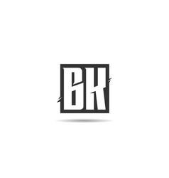 initial letter bk logo template vector image