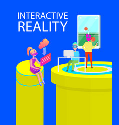 interactive reality games vector image