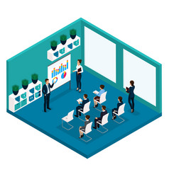 isometric training room rear view coaches vector image