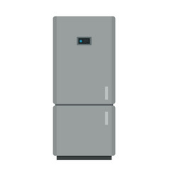 kitchen refrigerator in gray color with liquid vector image