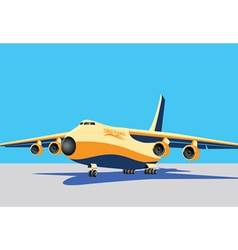 large cargo plane vector image