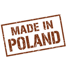 Made in poland stamp vector