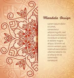 Mandala invitation card vector