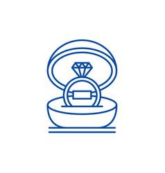 marriage ceremony line icon concept marriage vector image