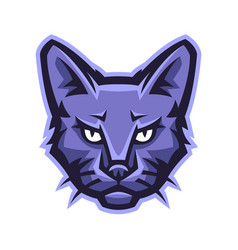 mascot stylized cat head vector image