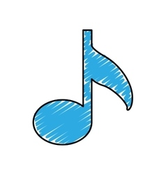 Music note icon image vector