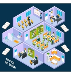 Office isometric interior vector