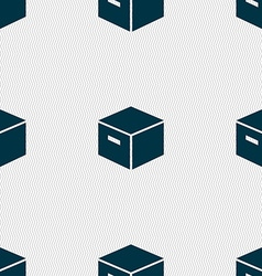 packaging cardboard box icon sign Seamless pattern vector image