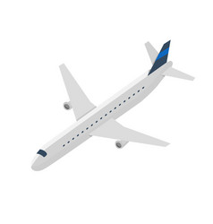 Passenger jet airplane isolated icon vector