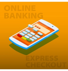 Payment terminal in the phone vector