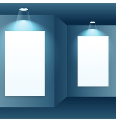 photo frame in gallery interior vector image