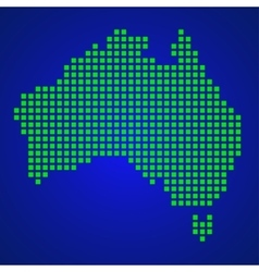 Pixel map of Australia vector image