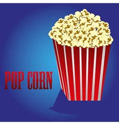 Popcorn on a blue background vector