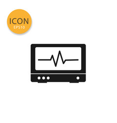 pulse monitoring icon isolated flat style vector image