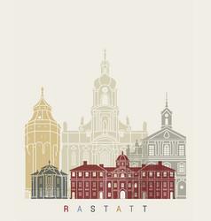 rastatt skyline poster vector image