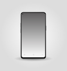 realistic black color smart phone isolated vector image