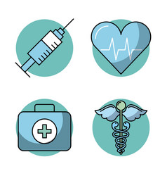 round icon health vector image