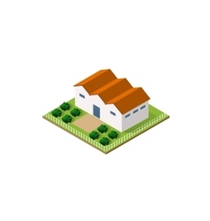 Rural farm in isometric vector image