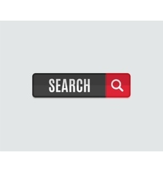 Search web button flat design Template for vector image