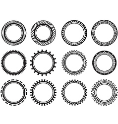 Set nice old fashioned circle vector image