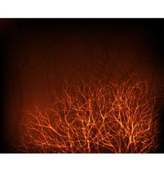 Shiny trees vector