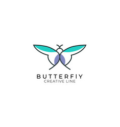 simple butter fly logo design beautiful clean s vector image
