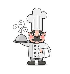 simple cartoon male cook vector image