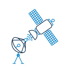space satellite dish anntena communication signal vector image