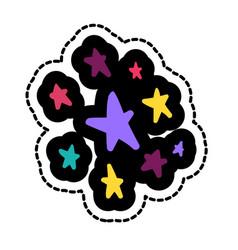 stars stitched frame vector image