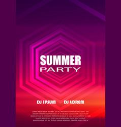 summer night party club flyer design vector image