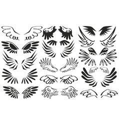 Symbol wings vector