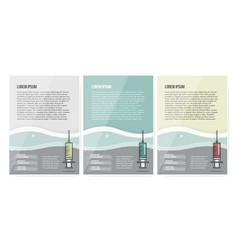 syringe symbol on set brochure design vector image