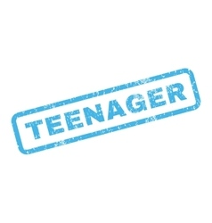 Teenager Rubber Stamp vector