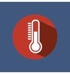 Thermometer sign isolated icon vector