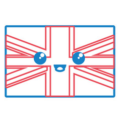 united kingdom flag icon vector image