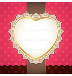 Valentine wedding card design vector image