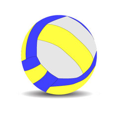 Volleyball sport ball vector image