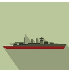 Warship flat icon vector image